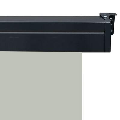 vidaXL Šoninė balkono markizė, pilka, 100x250cm,