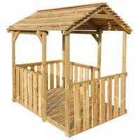 vidaXL Lauko žaidimų paviljonas, 122,5x160x163cm, pušies mediena