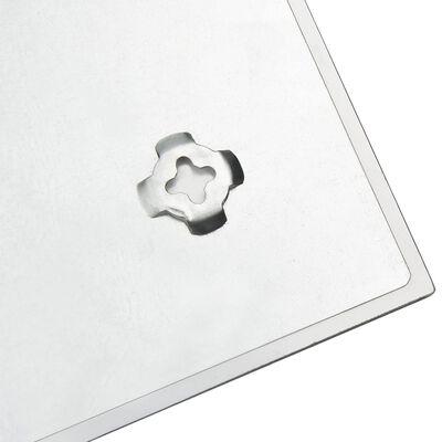 vidaXL Prie sienos montuojama magnetinė lenta, juoda,100x60cm, stiklas