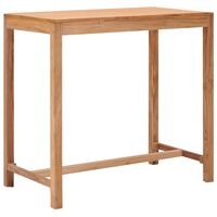 vidaXL Sodo baro stalas, 110x60x105cm, tikmedžio medienos masyvas