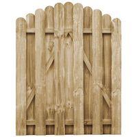vidaXL Sodo vartai, 100x125cm, impregnuota pušies mediena