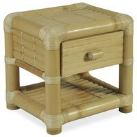 vidaXL Naktinis staliukas, 45x45x40cm, natūralus bambukas