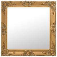 vidaXL Sieninis veidrodis, aukso spalvos, 60x60cm, barokinis stilius