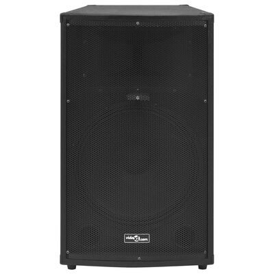 vidaXL Profesionali pasyvi garso kolonėlė, juodos spalvos, 1200W, 43x43x75cm