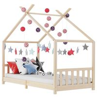 vidaXL Kids Bed Frame Solid Pine Wood 70x140 cm