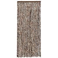 vidaXL Užuolaida nuo vabzdžių, ruda ir balta, 56x185cm, šenilis