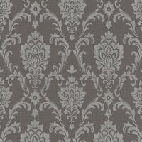 vidaXL Neaustinių tapetų rulonai, 4vnt., taupe spalvos, 0,53x10m, su ornamentais