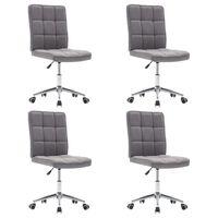vidaXL Valgomojo kėdės, 4vnt., šviesiai pilkos, audinys (2x283579)