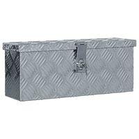 vidaXL Aliuminio dėžė, 48,5x14x20cm, sidabrinė