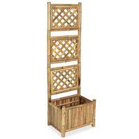 vidaXL Lovelis su bambukiniu treliažu, 40cm, aukštas
