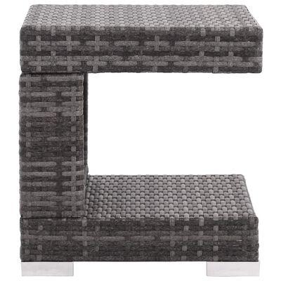 vidaXL Sodo poilsio baldų komplektas su pag., 7d., pilk. sp., polir.