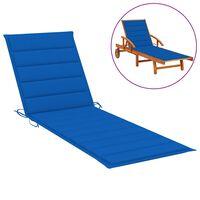 vidaXL Saulės gulto čiužinukas, mėlynos spalvos, 200x60x4cm, audinys