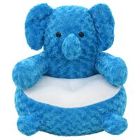 vidaXL Minkštas žaislas dramblys, mėlynas, pliušinis