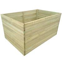 vidaXL Lovelis, impregnuota pušies mediena, 100x100x77cm