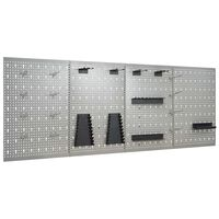 vidaXL Sieninės plokštės su kabliukais, 4vnt., 40x58cm, plienas