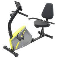 vidaXL Magnetinis gulsčias treniruoklis dviratis su pulso matavimu
