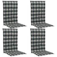 vidaXL Sodo kėdės pagalvėlės, 4vnt., įvairiaspalvės, 120x50x3cm