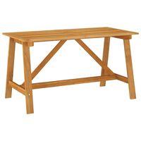 vidaXL Garden Dining Table 140x70x73,5 cm Solid Acacia Wood