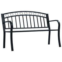 vidaXL Sodo suoliukas, juodos spalvos, 125cm, plienas