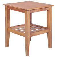 vidaXL Kavos staliukas, 40x40x50cm, tikmedžio med. mas., kvadrat.