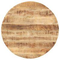 vidaXL Stalviršis, 80cm, mango medienos masyvas, apskritas, 15-16mm