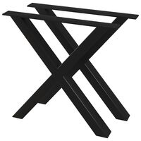 vidaXL Valgomojo stalo kojos, 2vnt., 80x72cm, X formos rėmas