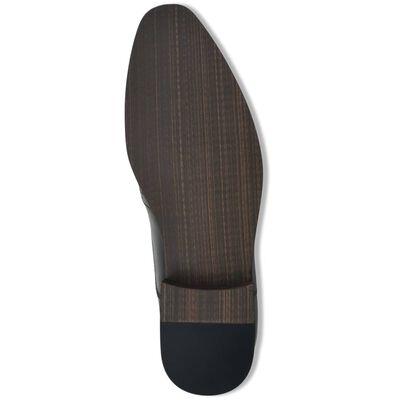 vidaXL Vyriški batai, suvarstomi, juodi, dydis 40, PU oda