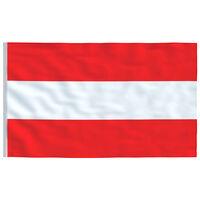 vidaXL Austrijos vėliava, 90x150cm