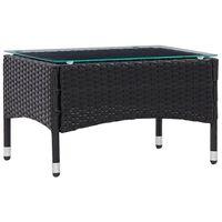 vidaXL Kavos staliukas, juodos spalvos, 60x40x36cm, poliratanas