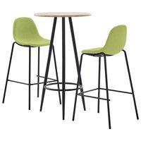 vidaXL Baro baldų komplektas, 5 dalių, žalios spalvos, audinys