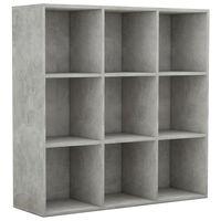 vidaXL Spintelė knygoms, betono pilkos spalvos, 98x30x98cm, MDP