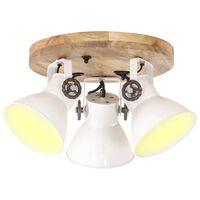 vidaXL Lubinis šviestuvas, baltas, 42x27cm, 25W, E27, pramoninis