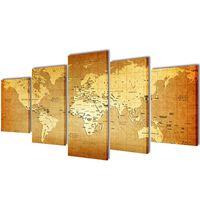"""Fotopaveikslas """"Pasaulio Žemėlapis"""" ant Drobės 100 x 50 cm"""