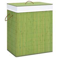 vidaXL Skalbinių krepšys, žalios spalvos, bambukas, 83l