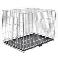 Sulankstomas metalinis šunų narvas, XL