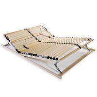 vidaXL Grotelės lovai su 28 lentjuostėmis, 7 zonos, 100x200cm