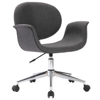 vidaXL Pasukama biuro kėdė, pilkos spalvos, audinys (287394)