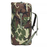 vidaXL Militaristinio stiliaus daiktų krepšys, 85l, kamufliažinis