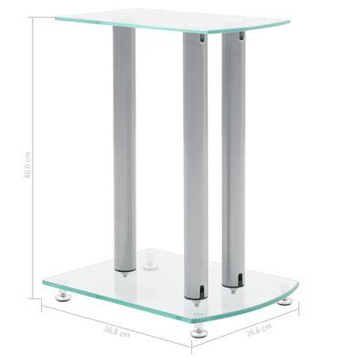 2 Stovai Garso Kolonėlėms iš Aliuminio ir Skaidraus Saugaus Stiklo