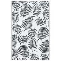 vidaXL Lauko kilimas, baltos ir juodos spalvos, 120x180cm, PP
