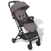 vidaXL Vaikiškas vežimėlis, pilkas, 89x47,5x104 cm