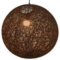 vidaXL Pakabinamas šviestuvas, rudos sp., sferinis, 55cm, E27 lemp.