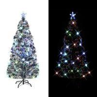 vidaXL Dirbtinė kalėdinė eglutė su stovu, LED, 210 cm