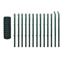 vidaXL Euro tvora, žalia, 25x0,8m, plienas