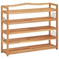 vidaXL Batų lentyna, 5 aukštų, 95x26x80cm, akacijos medienos masyvas