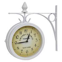 vidaXL Klasikinis dvipusis sieninis laikrodis