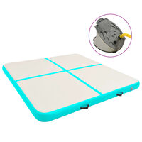 vidaXL Pripučiamas gimnastikos kilimėlis, žalias, 200x200x20cm, PVC
