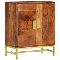 vidaXL Šoninė spintelė, 60x35x75cm, akacijos medienos masyvas