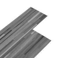 vidaXL Grindų plokštės, pilkos spalvos, PVC, 5,26m², 2mm, dryžuotos