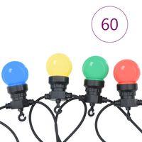 vidaXL Lauko lempučių girlianda, apskritos, 59m, 60 lempučių